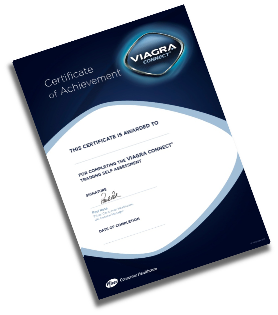 Viagra Connect Certificate